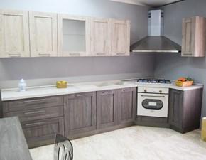 Cucina ad angolo in laminato materico a prezzo scontato 70%