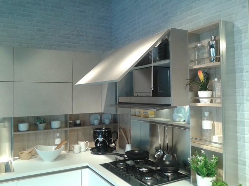 Veneta Cucine Start Time J.Cucina Ad Angolo In Laminato Materico Grigio Cucina Veneta Cucine