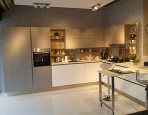 Cucina ad angolo in laminato materico grigio Cucina veneta cucine modello start time j a prezzo scontato