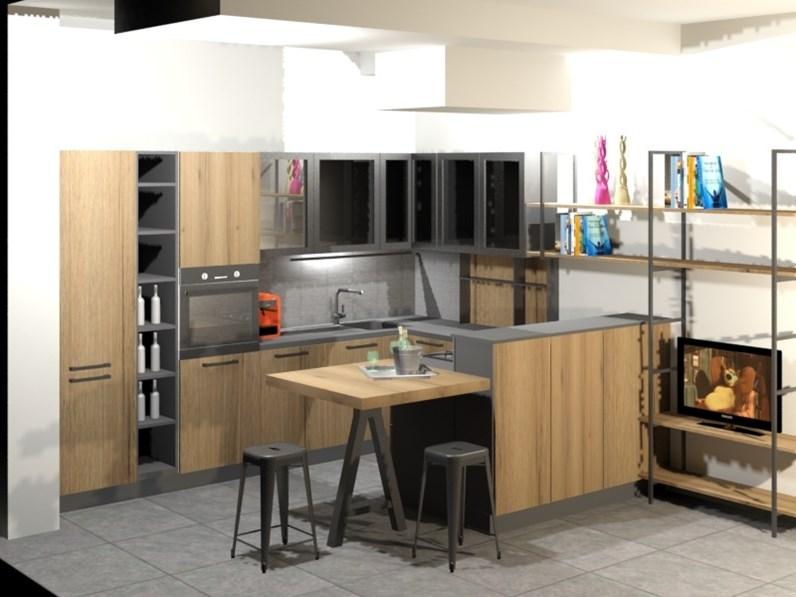 Cucina ad angolo in laminato opaco altri colori kali a for Arredo3 kali prezzo