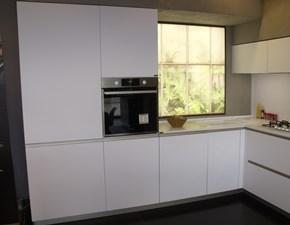 Cucina ad angolo in laminato opaco bianca Joy a prezzo ribassato