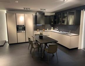 Cucina ad angolo in laminato opaco grigio Artex a prezzo scontato