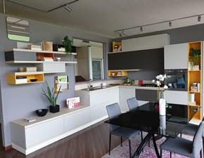 Cucina ad angolo in laminato opaco grigio Foodshelf inside a prezzo ribassato