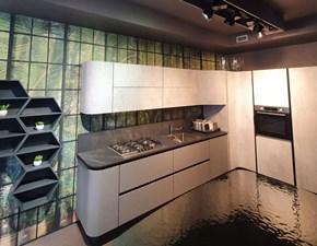 Cucina ad angolo in laminato opaco grigio Penelope a prezzo scontato