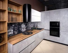 Cucina ad angolo in legno altri colori Mobilike urban a prezzo scontato