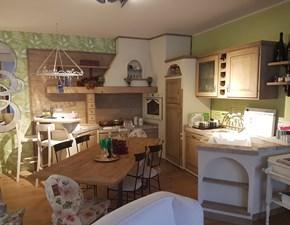 Cucina ad angolo in legno altri colori Paolina gianduia a prezzo scontato