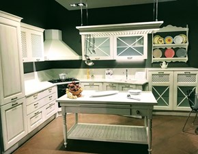 Cucina ad angolo in legno bianca Aran_bellag_v a prezzo scontato