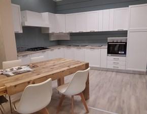 Cucina ad angolo in legno bianca Arnica  a prezzo scontato