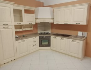 Cucina ad angolo in legno bianca Classico a prezzo scontato