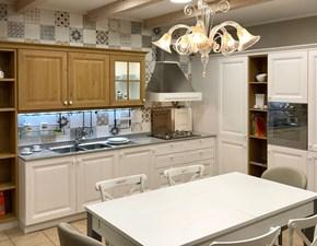 Cucina ad angolo in legno bianca Pavese a prezzo scontato