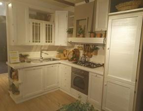 Cucina ad angolo in legno bianca Terre di toscana a prezzo ribassato