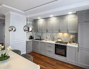 Cucina ad angolo in legno grigio Mobilike chelsea a prezzo ribassato