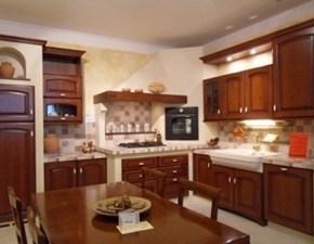 Cucina ad angolo in legno noce Angolare in muratura a prezzo ribassato