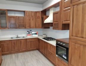 Cucina ad angolo in legno noce Giuliana a prezzo ribassato