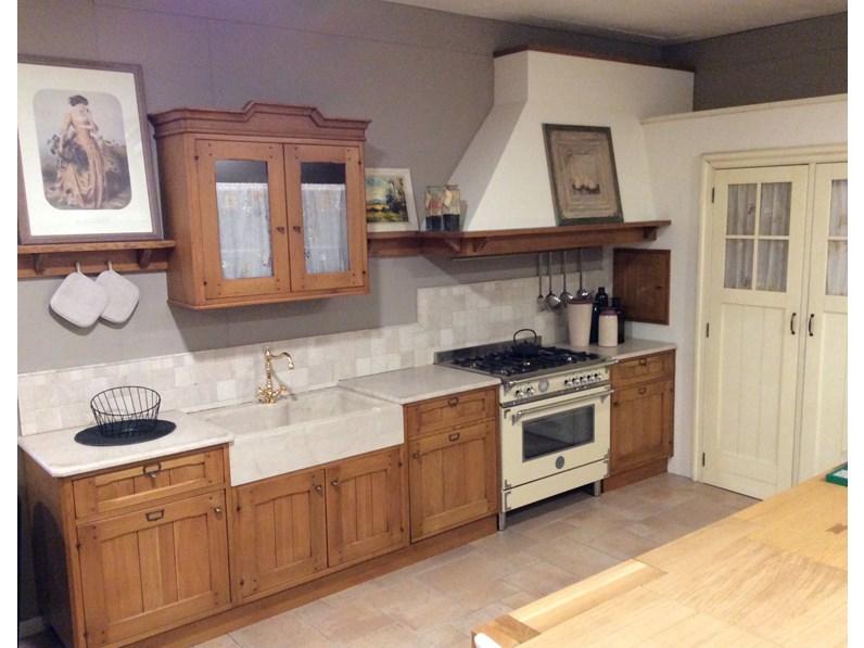 Cucina ad angolo in legno rovere chiaro rovere a prezzo ribassato - Cucine in legno chiaro ...