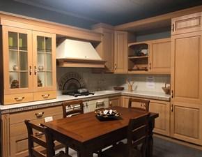 Cucina ad angolo in legno rovere chiaro Stilnovo a prezzo ribassato