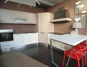 Cucina ad angolo in legno tortora Gioia a prezzo ribassato