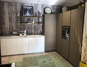 Cucina ad angolo in melaminico bianca Expo a prezzo scontato