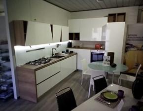 Cucina ad angolo in polimerico lucido bianca Infinity a prezzo scontato