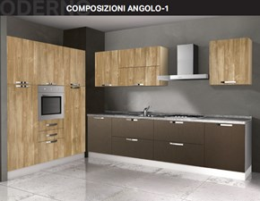Cucina ad angolo moderna Composizione ad angolo- 1 Arrex a prezzo ribassato