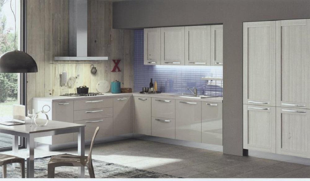 Cucina ad angolo moderna modello cloe rovere provenza - Cucina angolo moderna ...