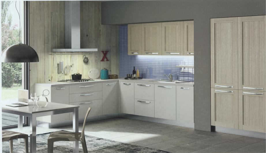 Cucina ad angolo moderna modello cloe rovere provenza - Prezzi cucine arredo 3 ...
