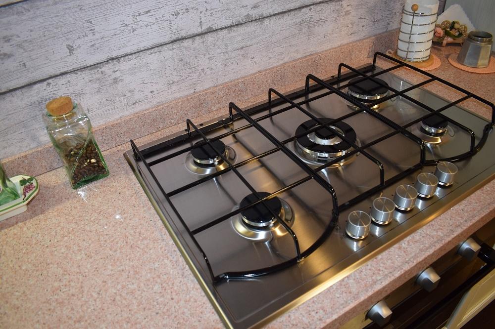 Cucina ad angolo moderna modello Cloe rovere provenza Arredo 3 ...