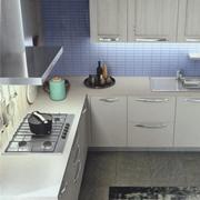 Cucina ad angolo modello Cloe finitura rovere provenza scontata