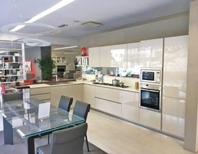 Cucina ad angolo moderna Modello creta  Del tongo a prezzo ribassato