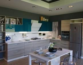 Cucina ad angolo moderna Mood Scavolini a prezzo ribassato