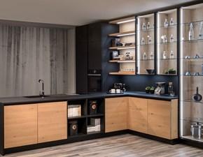 Cucina ad angolo moderna Six Diotti.com a prezzo ribassato