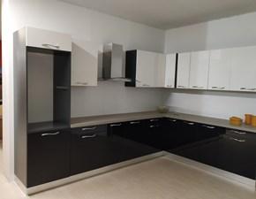 Cucina ad angolo moderna Vega ad angolo nero e bianco Gm cucine a prezzo ribassato