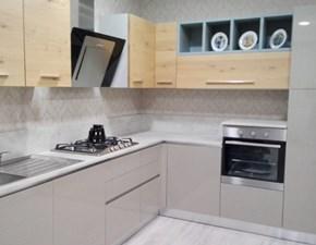 Cucina ad angolo moderna Zenzero Ar-due a prezzo ribassato