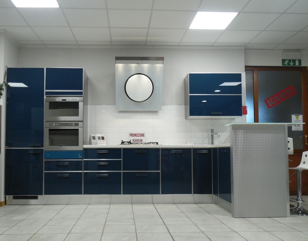 Cucina ad angolo scavolini crystal scontata del 25 - Composizione cucina ad angolo ...