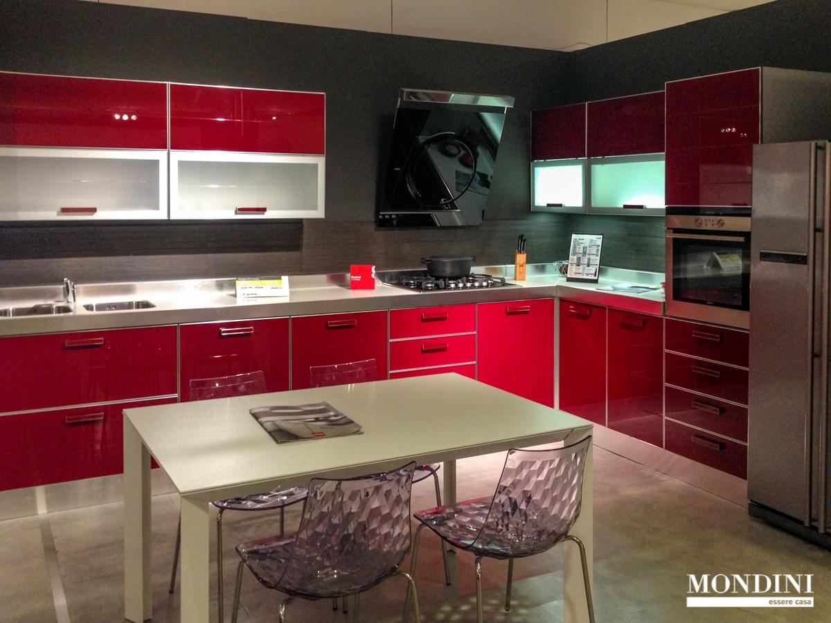 Cucina ad angolo scavolini modello crystal scontata del 56 cucine a prezzi scontati - Cucine componibili ad angolo prezzi ...