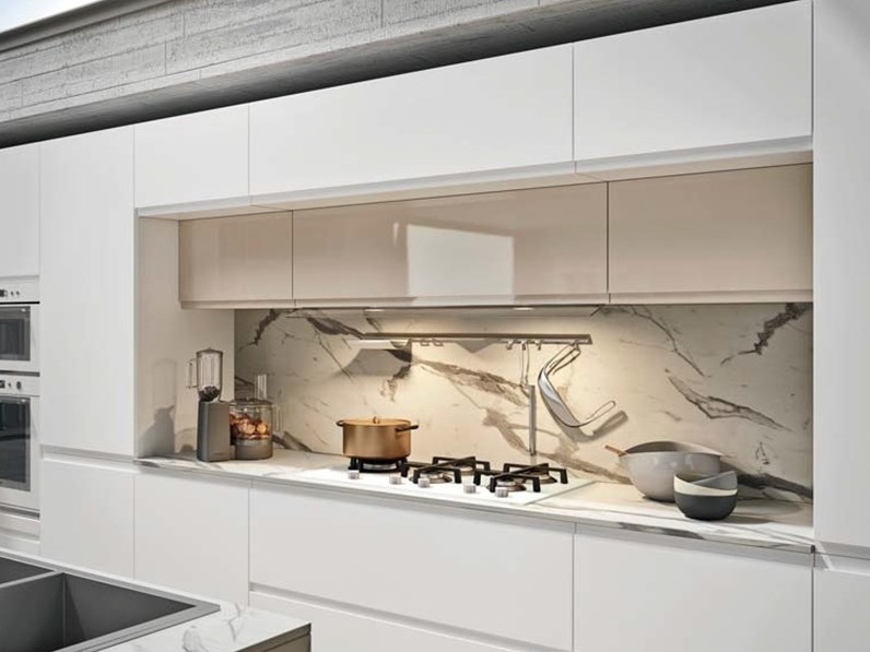 Cucina ad isola design Isola white design minimal Nuovi mondi cucine ...