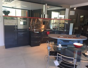 Cucina ad isola in laccata grigio Sky line  a prezzo scontato