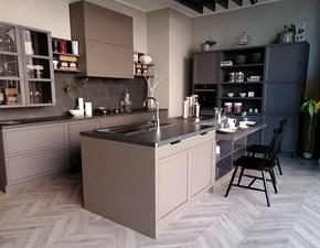 Cucina ad isola in laccato opaco grigio A.691 - newport a prezzo scontato