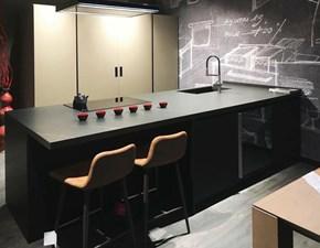 Cucina ad isola in laminato opaco altri colori Lab 13  plana fenix a prezzo scontato
