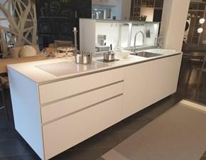 Cucina ad isola in laminato opaco bianca Artematica   a prezzo ribassato