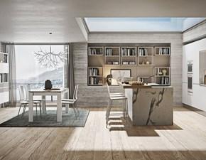 Cucina ad isola in laminato opaco bianca Componibile a prezzo ribassato