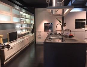 Cucina ad isola in legno bianca Regard a prezzo scontato