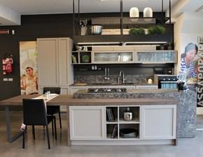 Cucina ad isola in legno grigio Infinity a prezzo ribassato