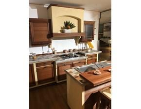Cucina ad isola in legno rovere chiaro Terre di toscana noce  a prezzo scontato