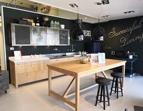 Cucina ad isola industriale Diesel successful living Scavolini a prezzo scontato