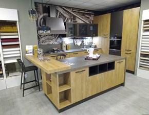 Cucina ad isola industriale Sp22 industrial Astra cucine a prezzo scontato