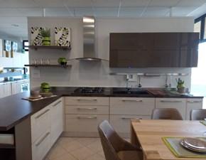 Cucina Adele moderna tortora con penisola Lube cucine