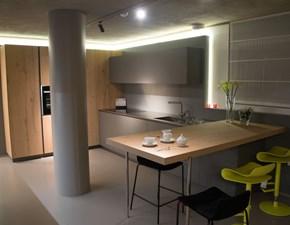 Cucina Ak_04 design grigio con penisola Arrital