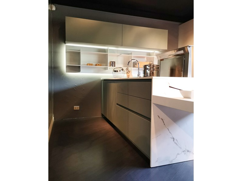 Cucina ak project ad isola di arrital cucine laccato opaco for Cucine di marca