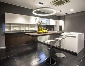 Cucina Ak project design bianca con penisola Arrital cucine